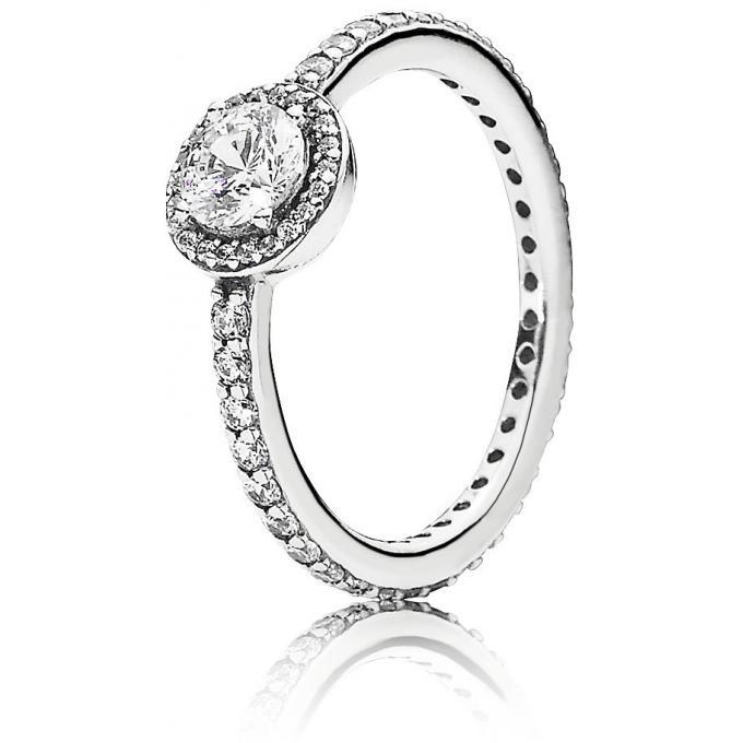 Pandora Black Stone Ring Size