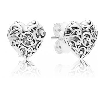 Boucles d'oreilles Pandora 297693 - Boucles d'oreilles Coeurs Royaux Femme