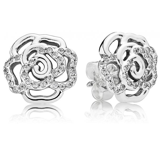 boucles d 39 oreilles pandora 290575cz boucles d 39 oreilles rose scintillante femme sur bijourama. Black Bedroom Furniture Sets. Home Design Ideas
