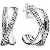 Boucles d'oreilles Pandora Entrelacs 290730CZ - Conte de Fees