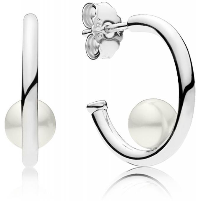 avant-garde de l'époque de gros nouvelles promotions Boucles d'oreilles Pandora 297528P - Boucles d'Oreilles Perles  Contemporaines Femme Plus d'infos