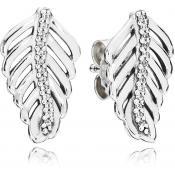 Boucles d'oreilles Pandora Plumes Scintillantes 290582CZ - Boucles d'oreilles
