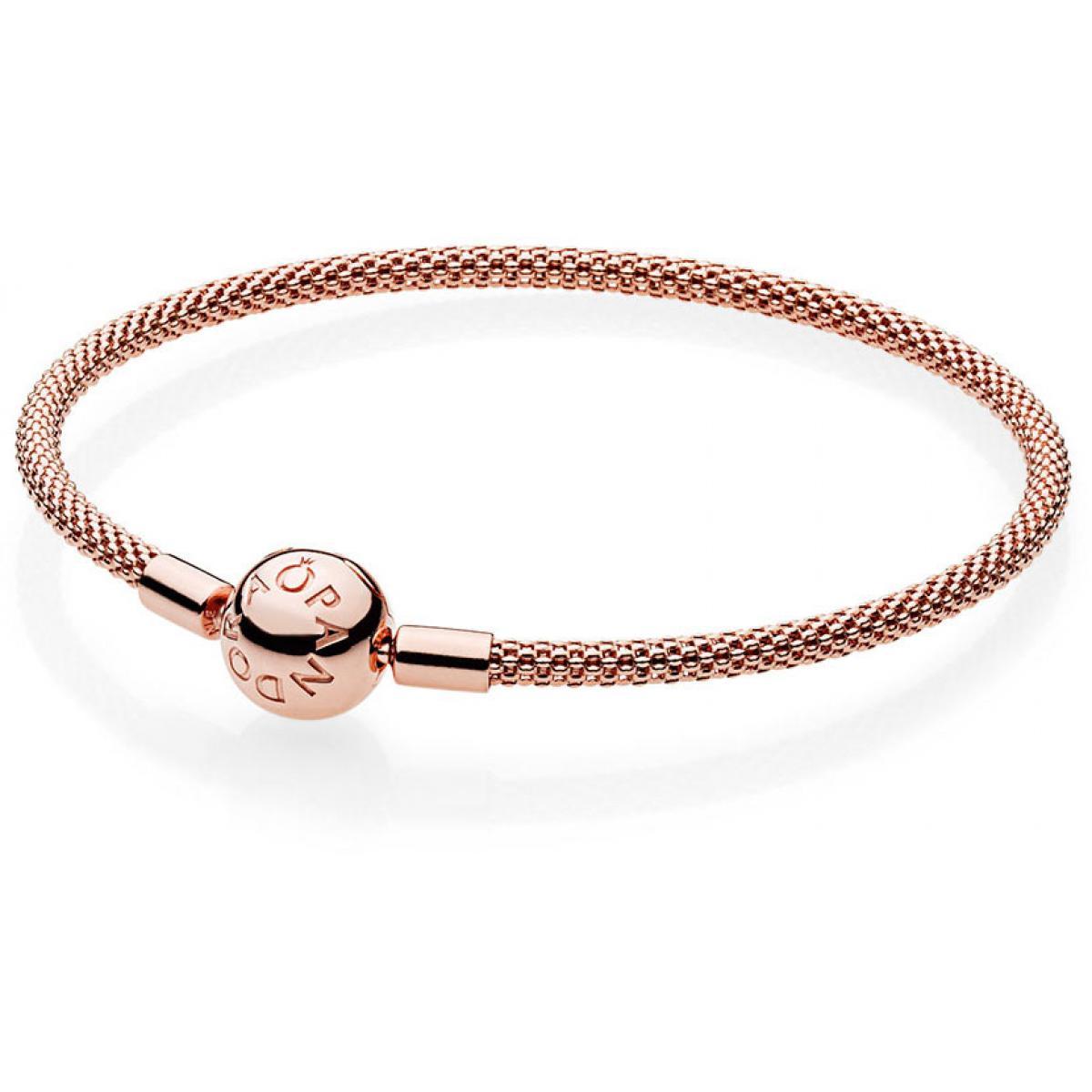 Bracelet Pandora 586543 - Bracelet Maille Tissée Moments en Rose Femme