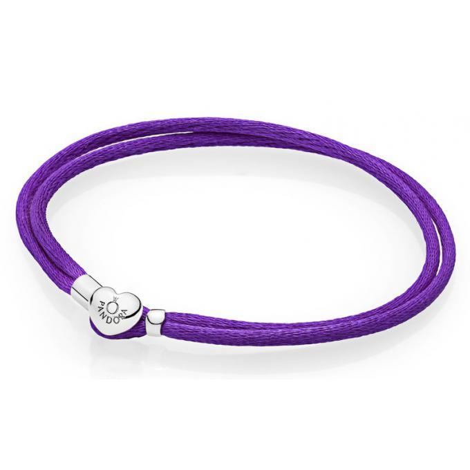 Souvent Bracelet Pandora 590749CPE - Bracelet Cordon Violet Femme sur  JN74