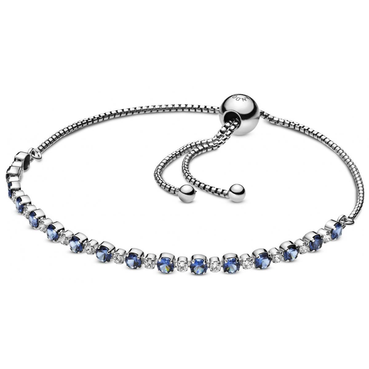 bracelet pandora argent bleu
