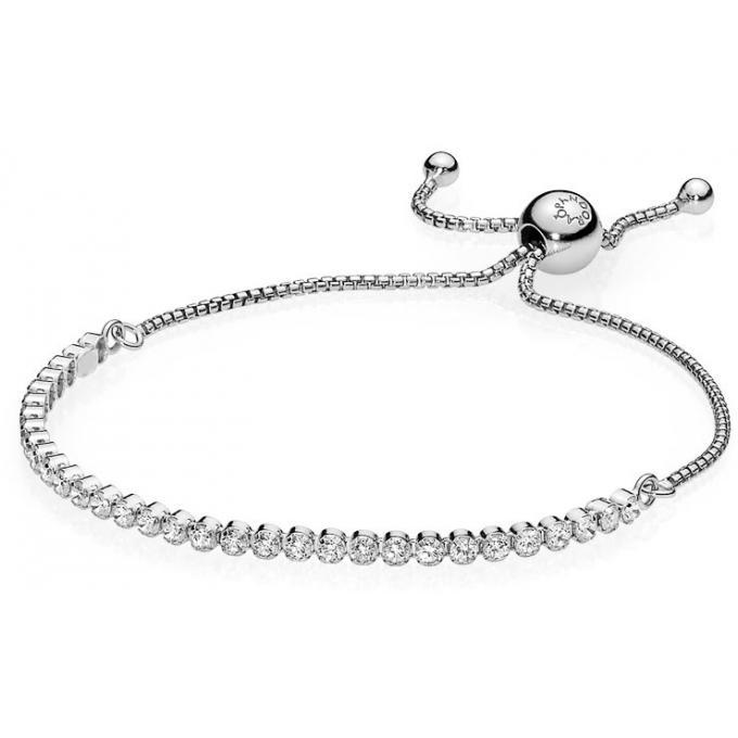 Bracelet Pandora Glamour 590524CZ , Bracelet Cordon Etincelant Femme