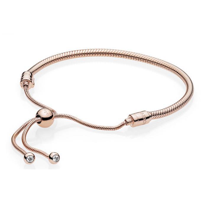 Bracelet Pandora 587125CZ , Bracelet Coulissant Moments En Pandora Rose  Femme