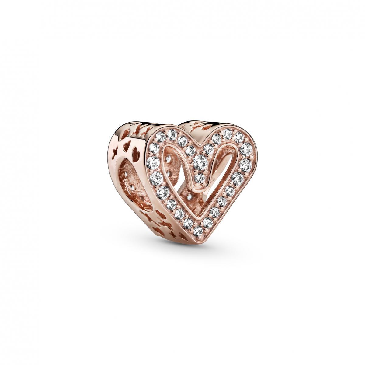 Charm Pandora rose 788692C01 - Esquisse de Cœur