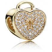 Charms Pandora Cadenas Coeur Or 750833CZ - Famille et Amis