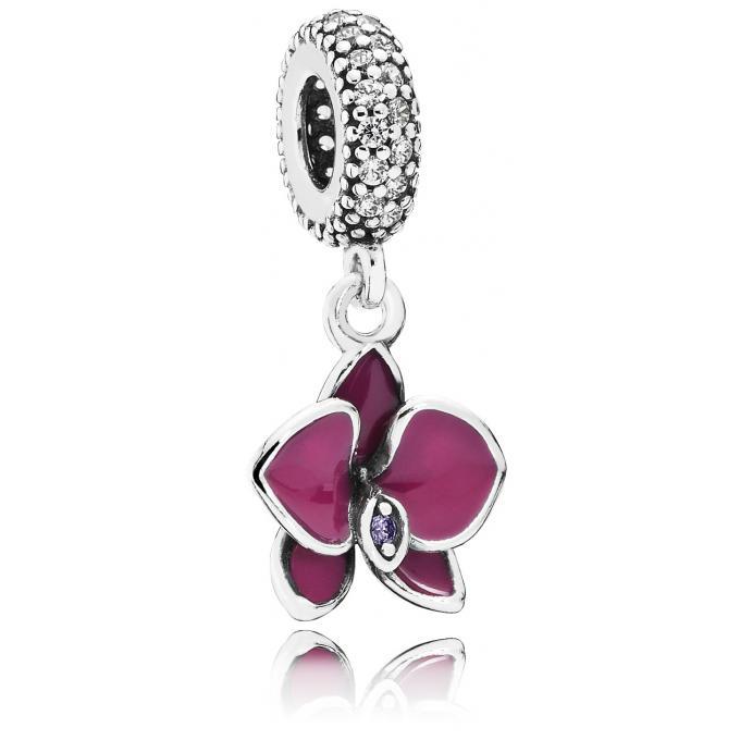 charm pandora 791554en69 charm orchid e argent femme sur bijourama r f rence des bijoux femme. Black Bedroom Furniture Sets. Home Design Ideas