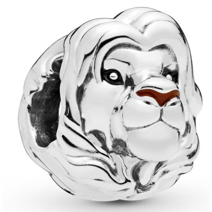 Charm Pandora 798049ENMX , Disney Le Roi Lion Simba en Argent 925/1000 et  résine