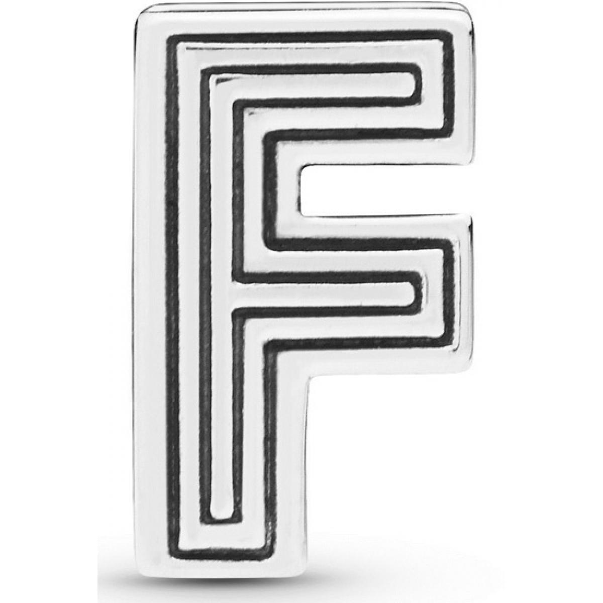 charm pandora lettre f
