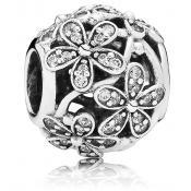 Charms Pandora Prairie Marguerites 791492CZ - Cadeau Noel