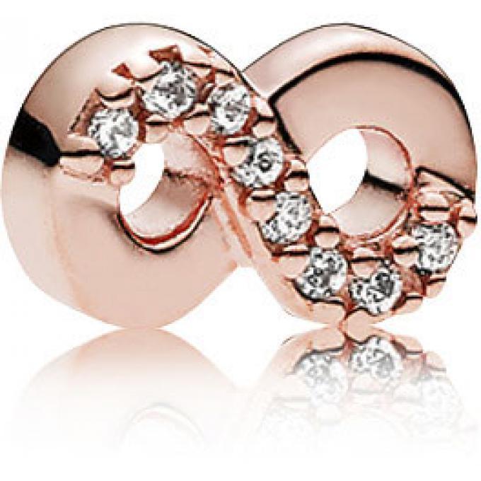 Charm Pandora 782178CZ , Charm Miniature Amour Éternel Rose Femme