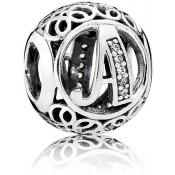 Charms Pandora A Ancien 791845CZ - Alphabet