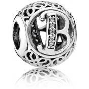 Charms Pandora B Ancien 791846CZ - Alphabet