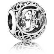 Charms Pandora F Ancien 791850CZ - Alphabet