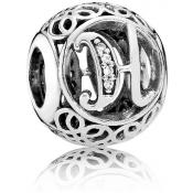 Charms Pandora H Ancien 791852CZ - Alphabet