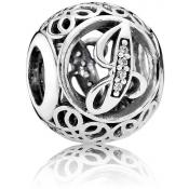 Charms Pandora J Ancien 791854CZ - Alphabet