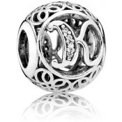 Charms Pandora K Ancien 791855CZ - Alphabet
