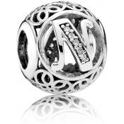 Charms Pandora N Ancien 791858CZ - Alphabet