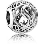 Charms Pandora S Ancien 791863CZ - Alphabet