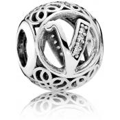 Charms Pandora V Ancien 791866CZ - Alphabet