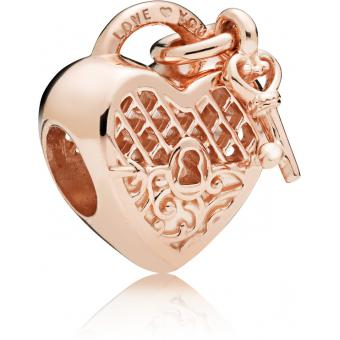 Charm Pandora 787655 - Charm Cadenas Love You Rose Femme