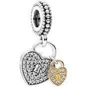 Collier et pendentif Pandora Cadenas de l'Amour 791807CZ