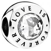 Charms Pandora Love is Forever 791813CZ - Amour