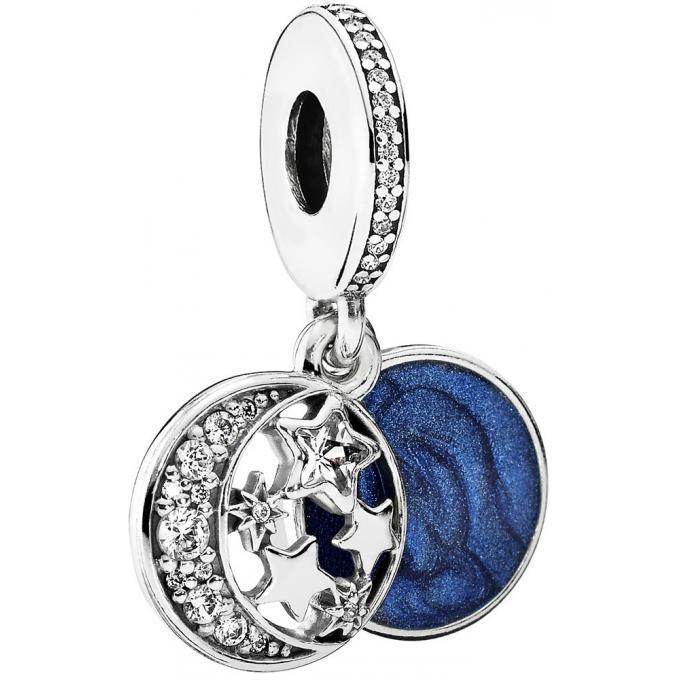 Charm pendentif Pandora Contes Célestes 791993CZ , Charm pendentif Ciel de Nuit Vintage