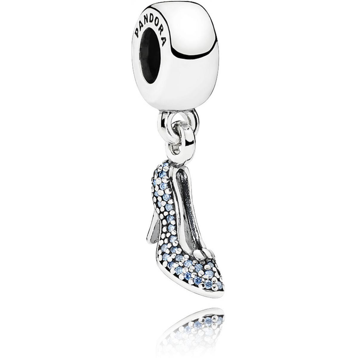 Charm Pandora Disney 791470CFL - Charm Disney Pendant Pantoufle Etincelante  De Cendrillon Femme