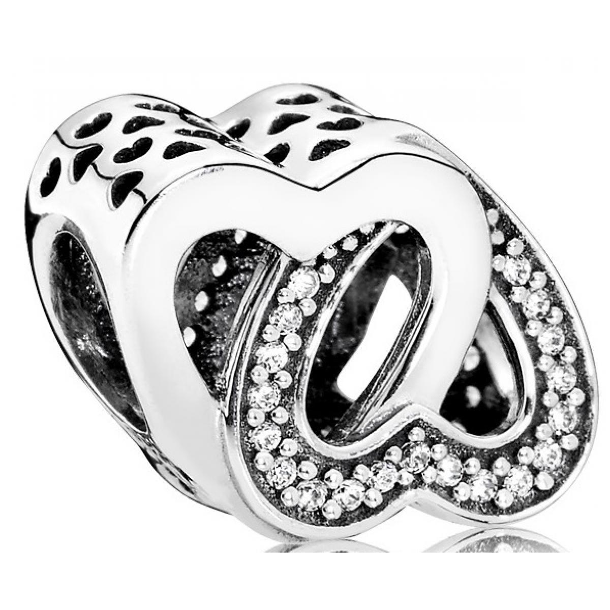 Charm Pandora 791880CZ - Charm Entrelacs d'Amour Femme