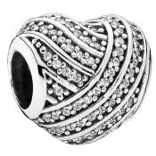 Charms Pandora Coeur Lignes d'Amour 791885CZ - Famille et Amis