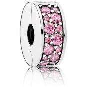 Charms Pandora Clip Élégance Brillante Rose 791817PCZ