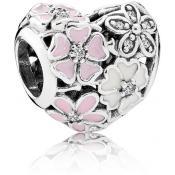 Charms Pandora Coeur Fleurs Poétiques 791825ENMX