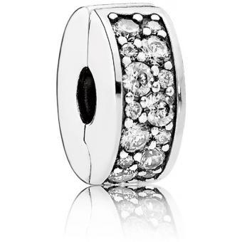 Charm Pandora 791817CZ - Charm Clip Élégance Brillante Femme