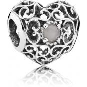 Charms Pandora Coeur Signature Pierre de Lune 791784MSG - Moments de Vie