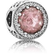 Charms Pandora Coeurs Lumineux Rose Chair 791725NBP