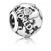 Charms Pandora Around the World Ajouré 791718CZ - Voyage