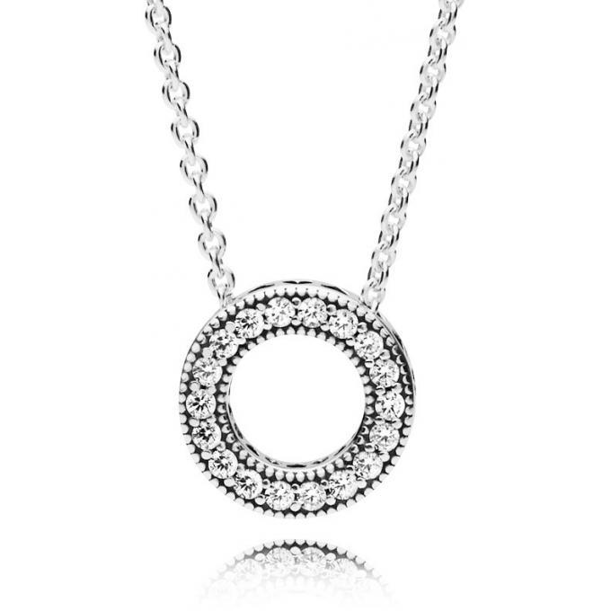 dernier style de 2019 nouveau style de 2019 dernière vente Collier et pendentif Pandora 397436CZ - Collier Coeurs Femme ...