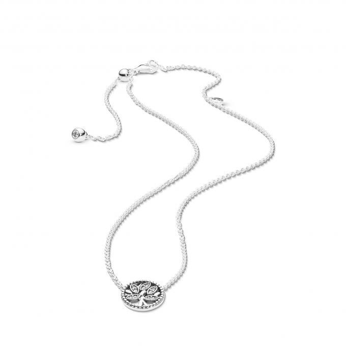 5b527bbe079 Collier et Pendentif Pandora 397780CZ - Arbre de Vie en Argent Femme   Collier et pendentif Femme Pandora 397780CZ ...