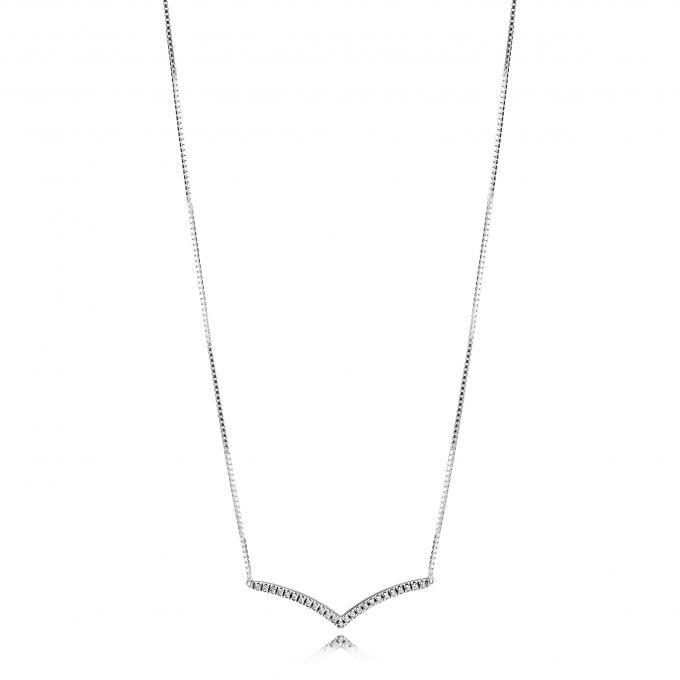 Vente vente énorme vente en magasin Collier et pendentif Pandora 397802CZ - Collier et pendentif Vœu  Scintillant Argent Plus d'infos