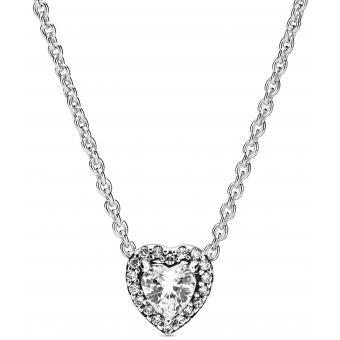 Collier et pendentif Pandora 398425C01 - Cœur Surélevé Argent Femme