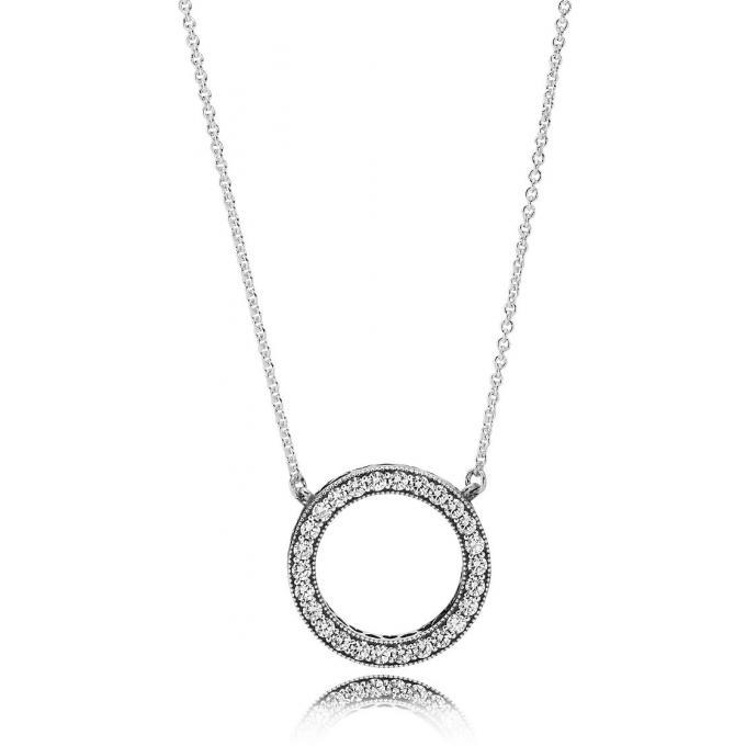 4c5bfa6531f Collier et pendentif Pandora 590514CZ - Collier et pendentif Argent PANDORA  Femme