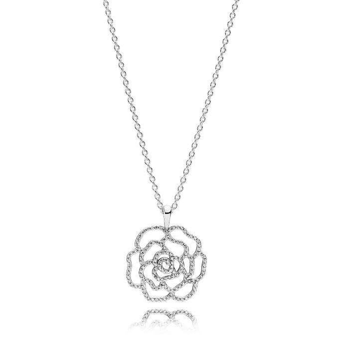 collier pandora 390368cz collier rose scintillante femme sur bijourama r f rence des bijoux. Black Bedroom Furniture Sets. Home Design Ideas