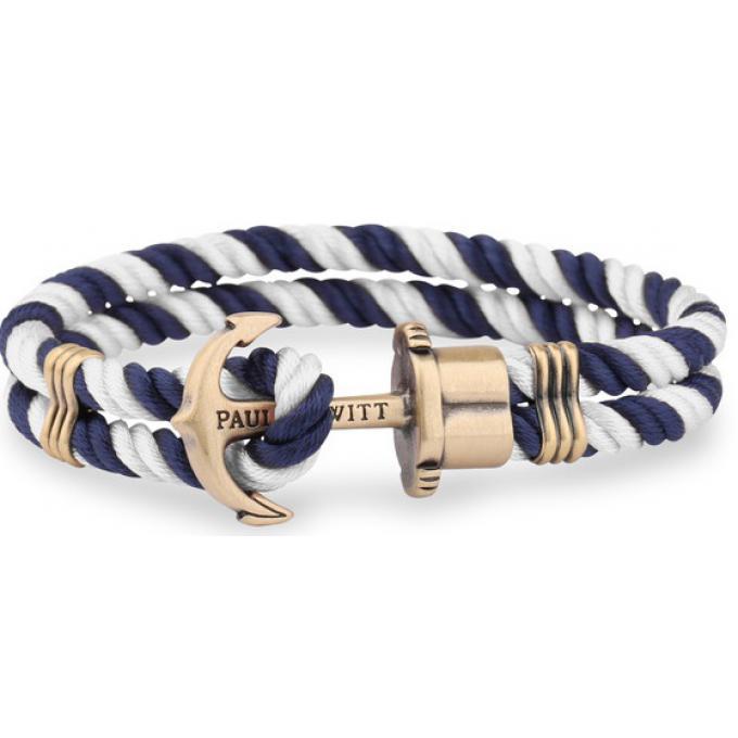 grand choix de 2e0a3 5805c Bracelet Paul Hewitt PH_PH_N_NW - Bracelet Ancre Laiton Nylon Marine Blanc  Mixte Plus d'infos