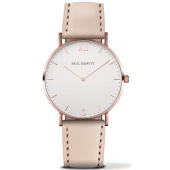 Paul Hewitt - Montre Paul Hewitt PH-SA-R-SM-W-22S - Montre Femme Cuir