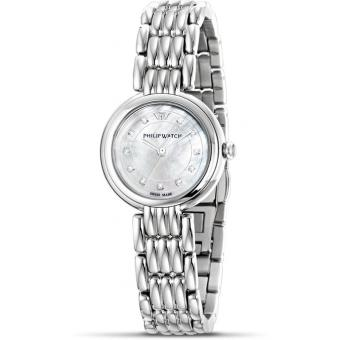 Montre Philip Watch Ginevra R8253491512 - Montre Index Diamants Femme