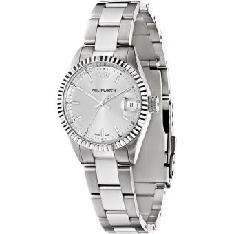Montre Philip Watch Caribe R8253597017 - Montre Argentée Stries Femme